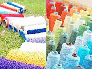 様々な手織り糸