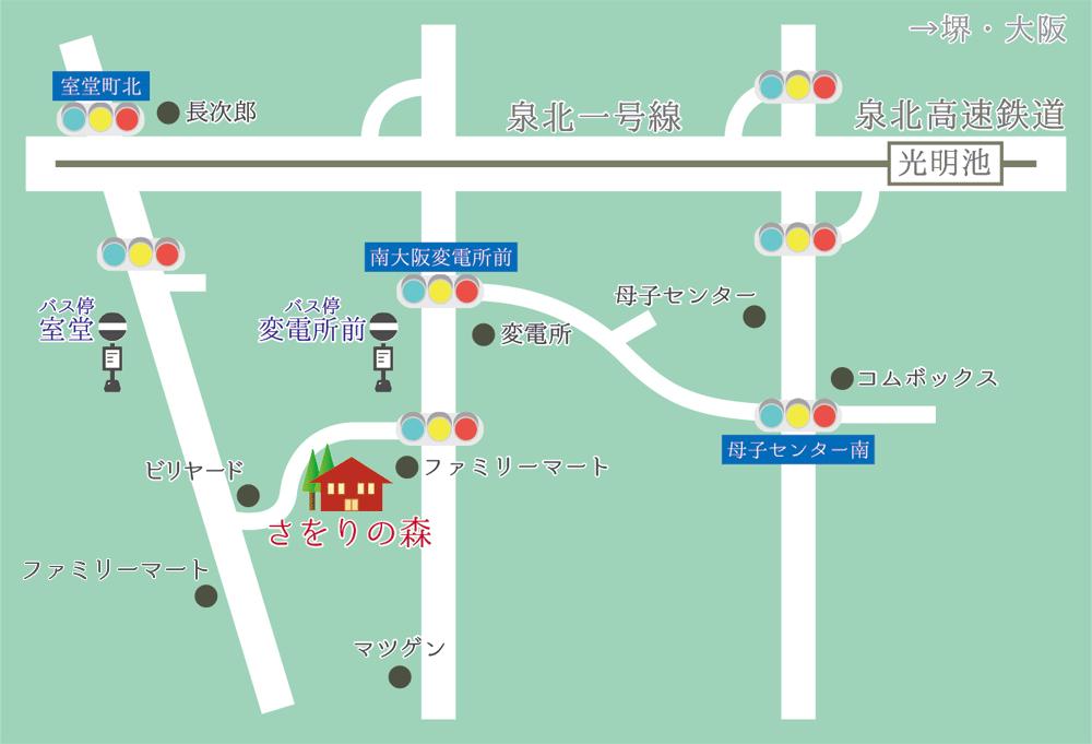 さをりの森への地図