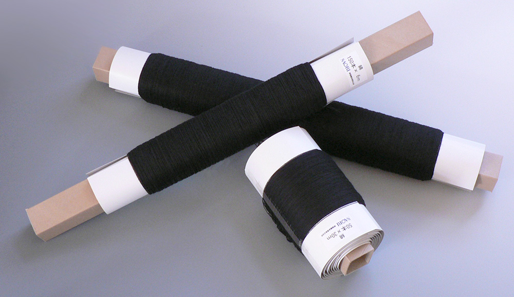 タテ糸ローラー巻き